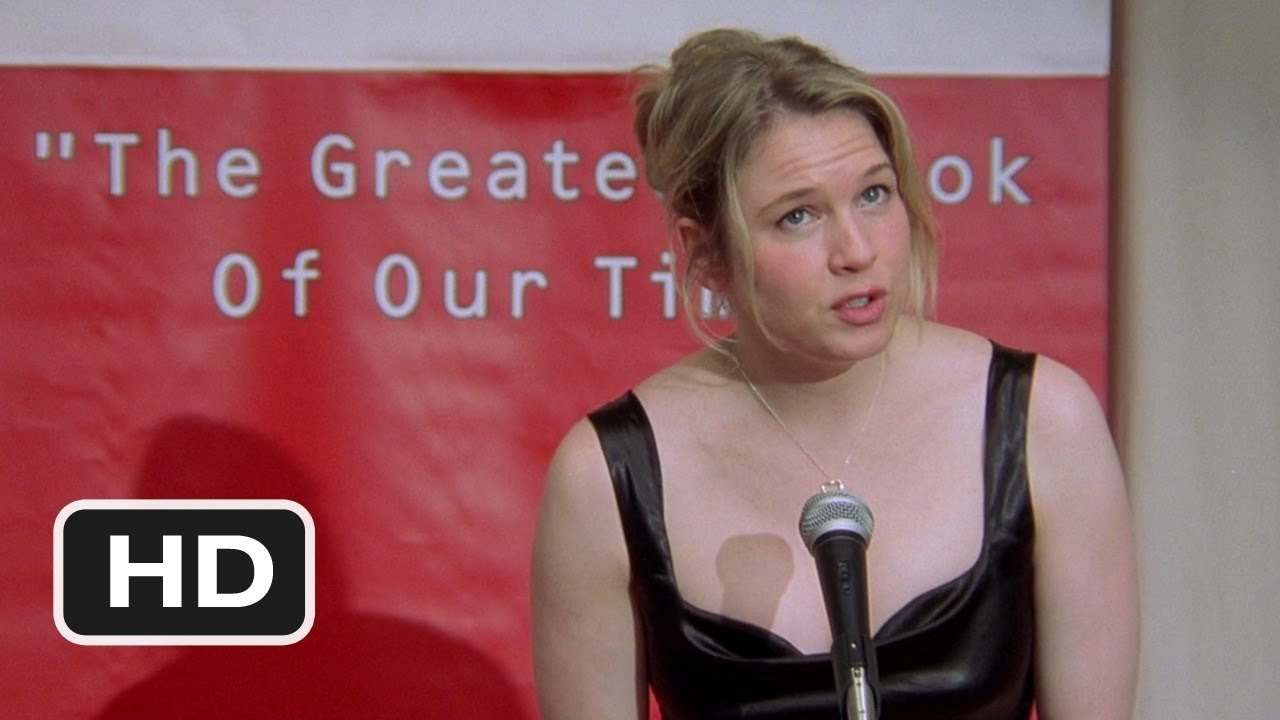 The fun book launch scene from the Bridget Jones movie.