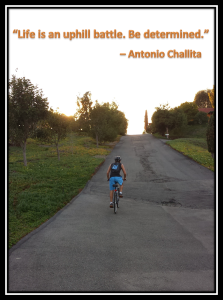 "Antonio's ""uphill battle"" picture"