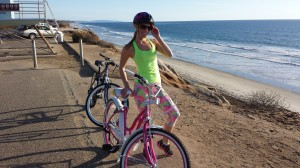 Biking near the beach