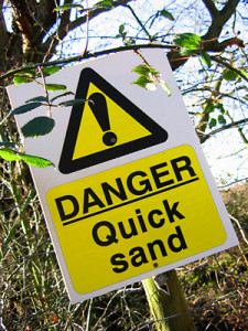 Writers' quicksand can be hazardous. Here, I share some tips to get out! Image courtesy of horseandman.com