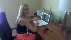 Here I am in my office, doing some writing!